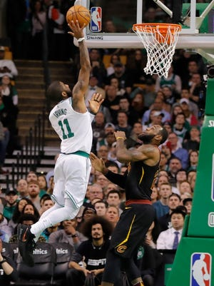Kyrie Irving got his first win against LeBron James and his former team.