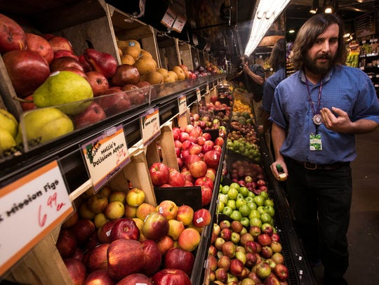 City Market Produce Manager Jason Pappas, who also