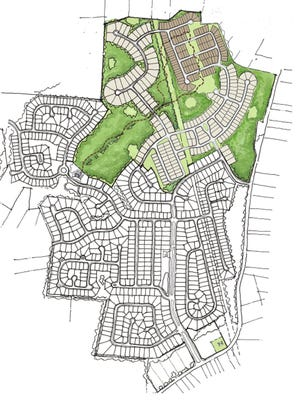 Developers are seeking approval of a preliminary master development plan that would allow for 330 homes to be built on 178-acres in the northern portion of Mansker Farms in Hendersonville.