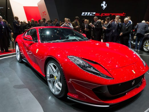 The new Ferrari 812 Superfast is presented during the