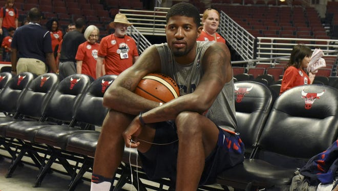 USA Basketball guard Paul George (13)  is looking forward to closing a chapter in his career.