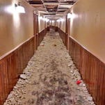 The damage sustained at the Inn at Treetops Resort outside Gaylord in northern Michigan after a University of Michigan fraternity and sorority visited the weekend of Jan. 17-18, 2015.