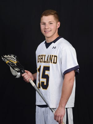 Chris Schlappich, player of the year, Highland lacrosse