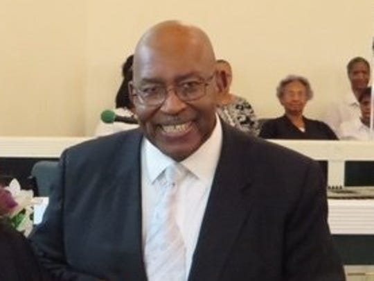 The Rev. Angus Thompson pastor of New Jerusalem Baptist