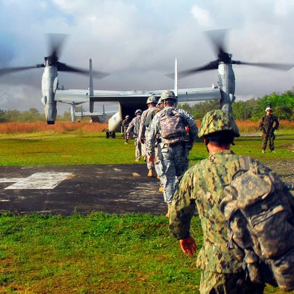 Military personnel supporting Operation United Assistance
