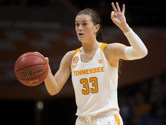 During her three seasons with Tennessee, Alexa Middleton appeared in 97 games and had 18 starts.