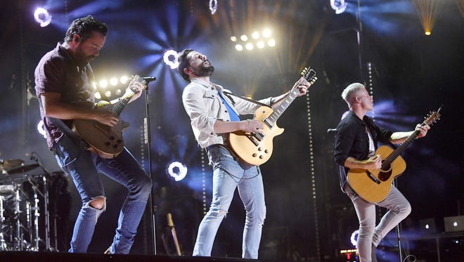 Old Dominion won Vocal Group of the Year at Wednesday's CMA Awards.