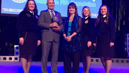 Kim and Leona Havens of Darlington were among donors that qualified for induction into the Blue and Gold Society during the WI FFA Convention on June 13, 2017.