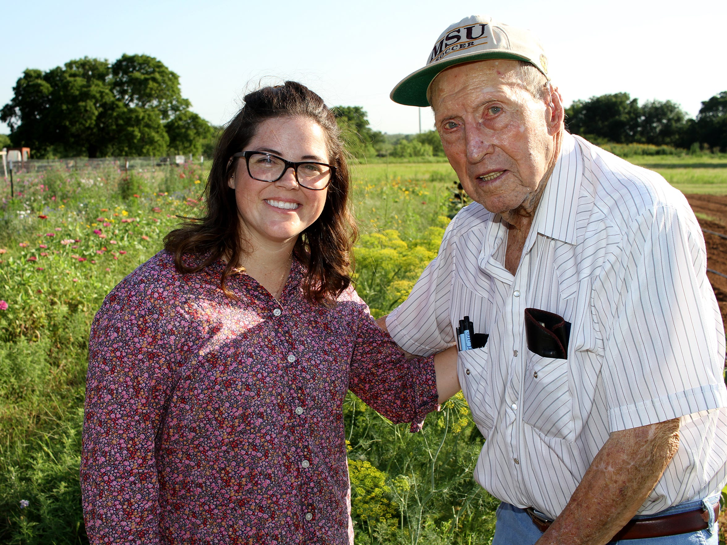 Blair Ramon said she was inspired to go into the flower farm business by her 94-year-old grandfather, Fred Morgan. Ramon started Gilbert Creek Gardens in Burkburnett in 2015.