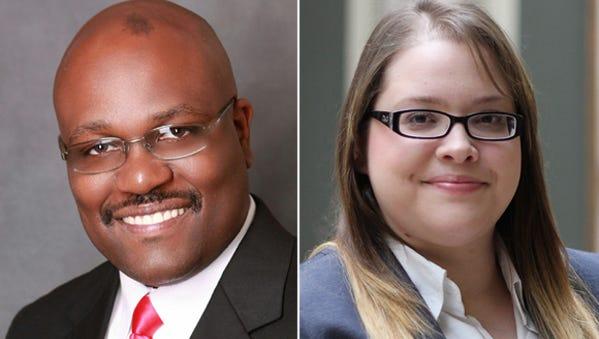 Ernest Flagler, left, and Leslie Rivera.