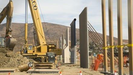 Construction of border-wall prototypes.