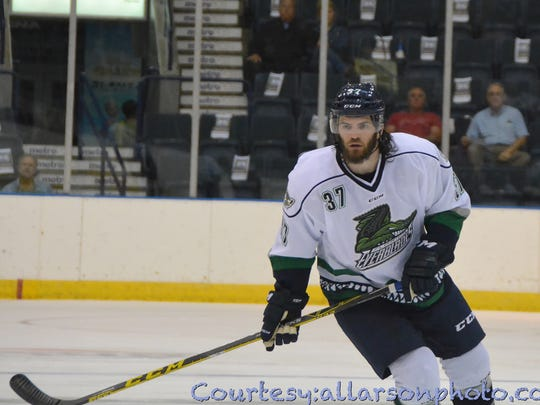 Rob Florentino is one of two defensemen who saw action with the Florida Everblades last season.
