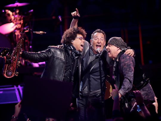 Bruce Springsteen performs during The River tour at