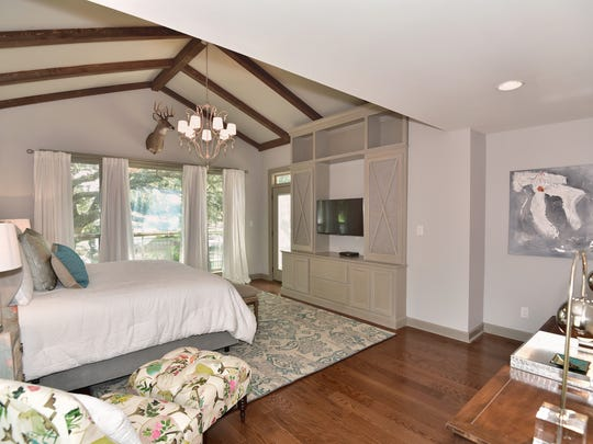 High ceilings, open space and a canal view is a highlight of the master suite.