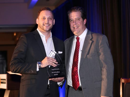 Rapid Advance wins the Top Workplace in the small business category at the 2016 Detroit Free Press Top Workplaces awards on Tuesday, Nov. 15, 2016, at the Detroit Marriott in Troy.