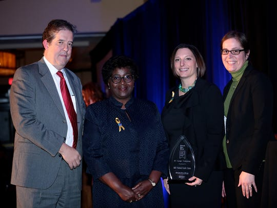 MSU Federal Credit Union wins Top Workplace in the large company category at the 2016 Detroit Free Press Top Workplaces awards on Tuesday, November 15, 2016, at the Detroit Marriott in Troy.