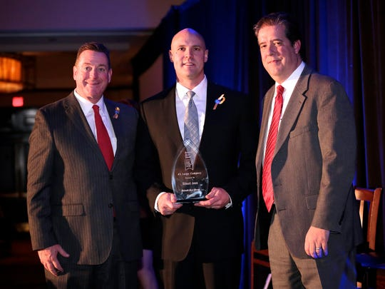 Edward Jones wins 3rd place in the large company category at the 2016 Detroit Free Press Top Workplaces awards on Tuesday, Nov. 15, 2016, at the Detroit Marriott in Troy.