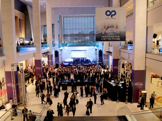 The atrium of Cobo Center in downtown Detroit during