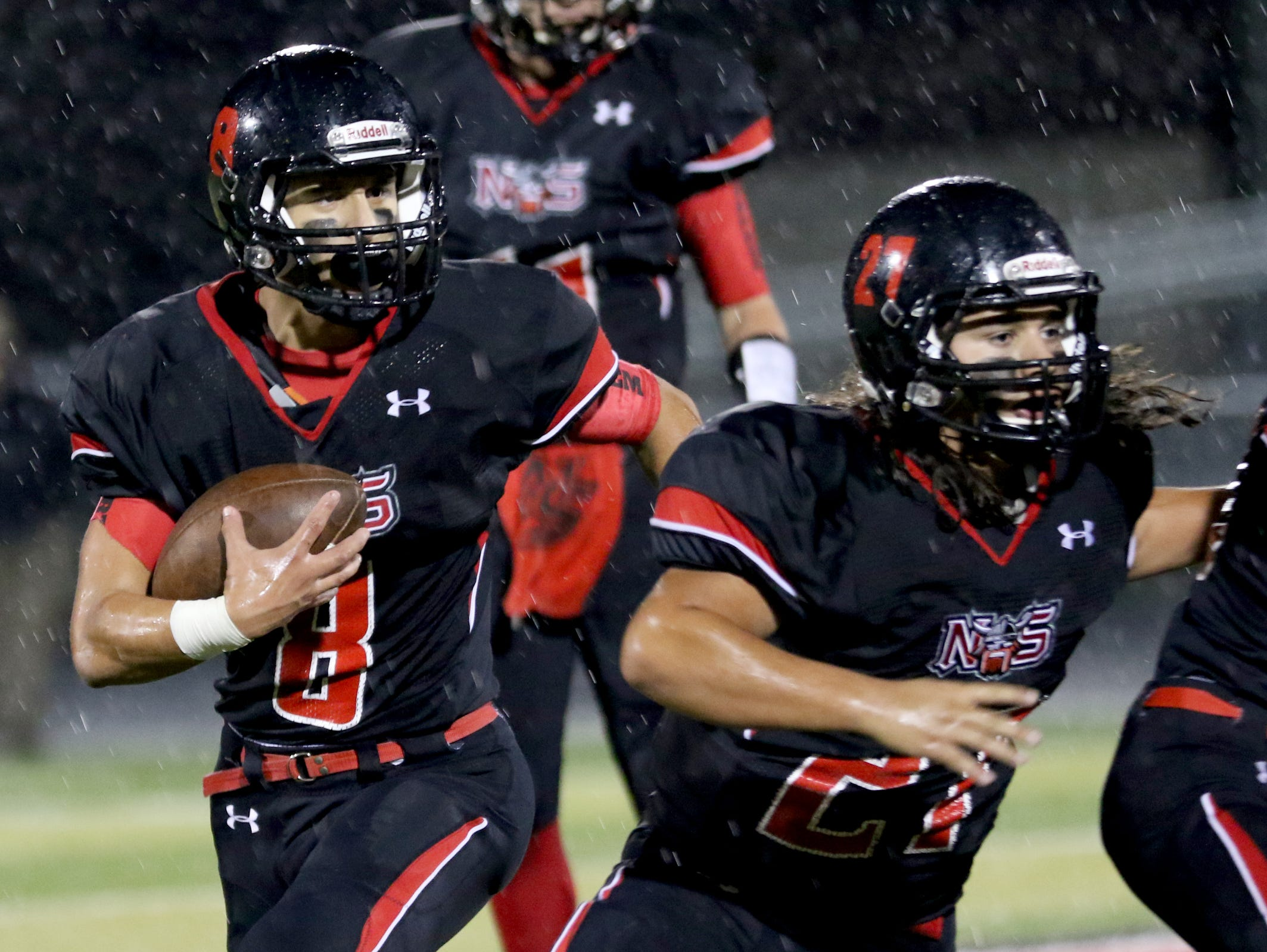 North Salem won the Mayor's Trophy football game against South Salem last season for the first time in nine years.
