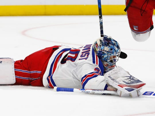 The Red Wings' lone win since Valentine's Day came against goalie Henrik Lundqvist and the New York Rangers on March 7.