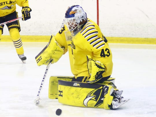 Hartland goalie Andrew Heuwagen made all-state as a