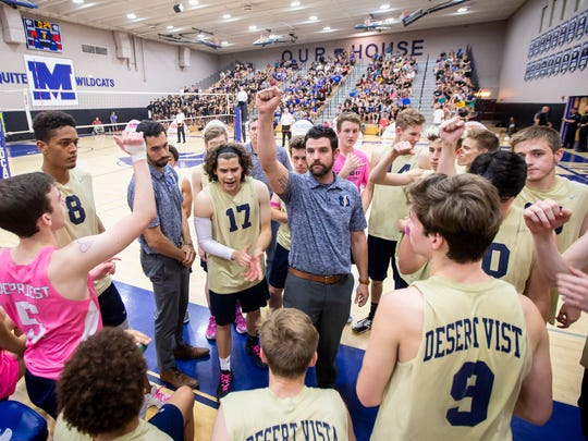 Phoenix Desert Vista boys volleyball head coach Clay Webb.