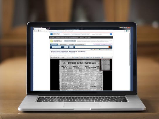 Digitized versions of historic newspapers make research