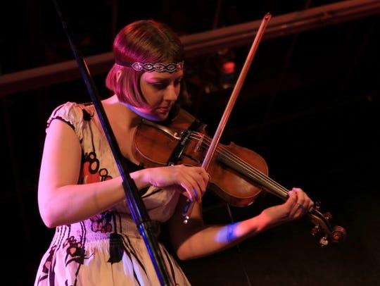 Heather Wilhelm performs Thursday with the gypsy jazz