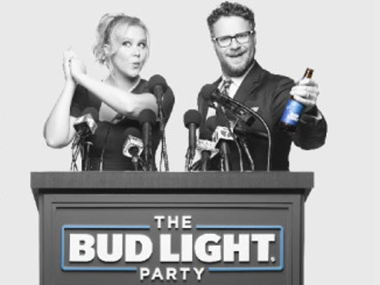 Amy Schumer and Seth Rogen star in Bud Light's Super