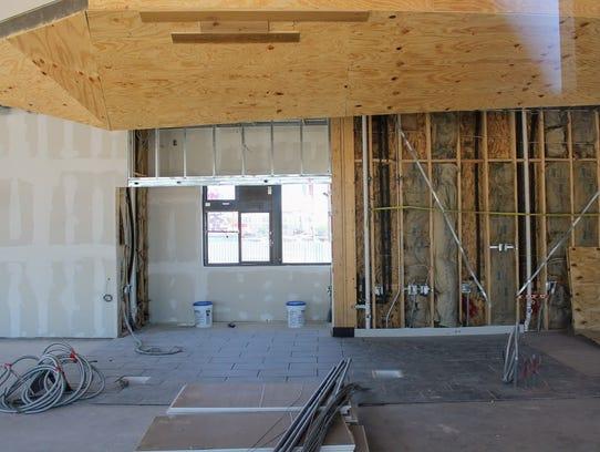 The new Starbucks drive-thru construction on 1400 S.