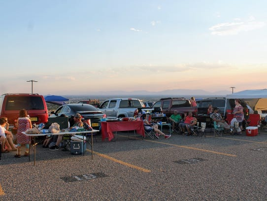 Hundreds of residents tailgated at and near the New
