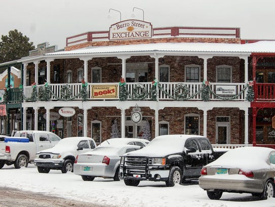 Snow blanketed historic downtown Cloudcroft Wednesday. The village received an estimated 5 inches of snow.