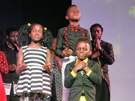 Children from the Watoto Children's Choir performed