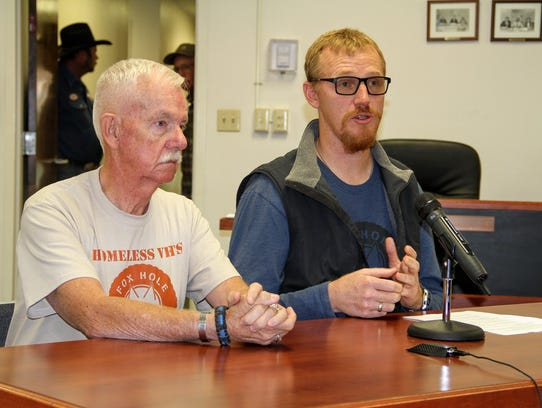 Foxhole Homes founder Ted Brinegar (right) and Vice-President