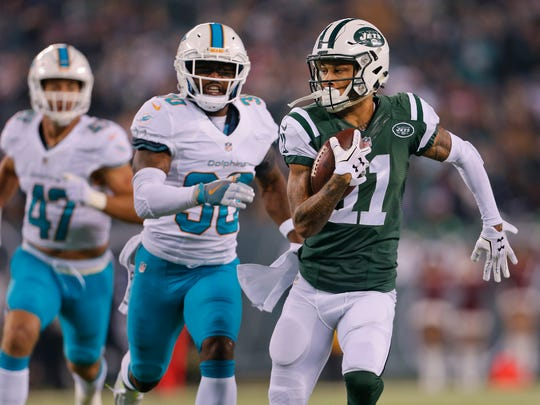 Jets receiver Robby Anderson was reportedly arrested in Miami on Sunday.