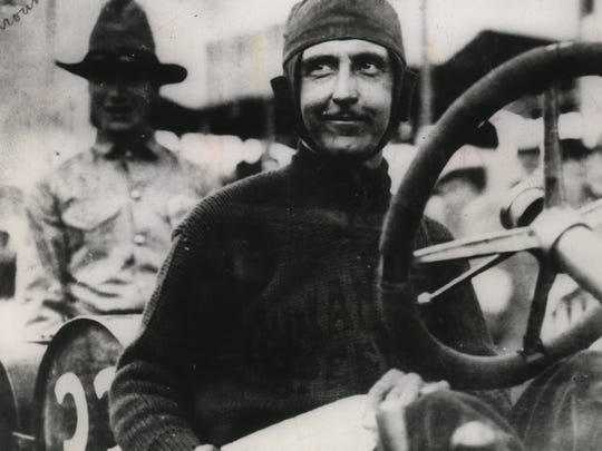 Ray Harroun, winner of first Indianapolis 500, smiles after his victory on May 30, 1911. His average speed was 74.6 mph.