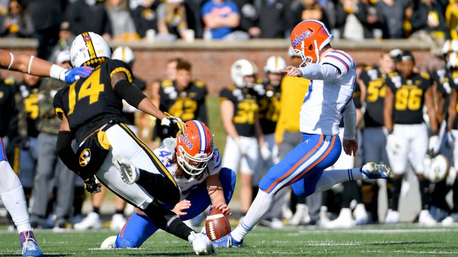 Florida kicker Evan McPherson was selected in the fifth round Saturday by the Cincinnati Bengals.