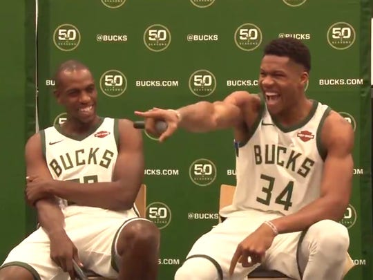 Giannis Antetokounmpo thinks he's the funniest.