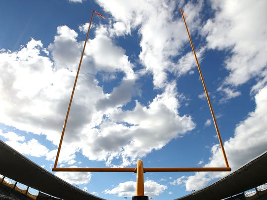 General field goal posts view.