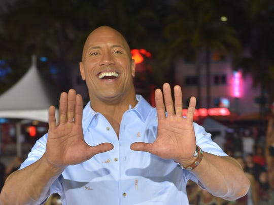 Dwayne Johnson on May 13, 2017 in Miami.