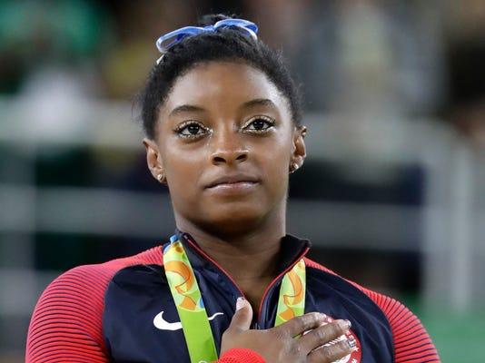 AP RIO OLYMPICS ARTISTIC GYMNASTICS WOMEN S OLY GYM BRA