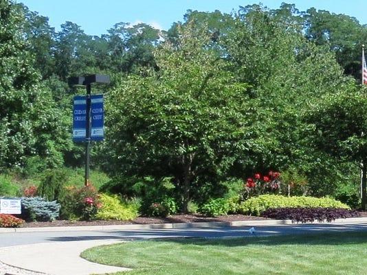 Cedar Crest 15 Sign