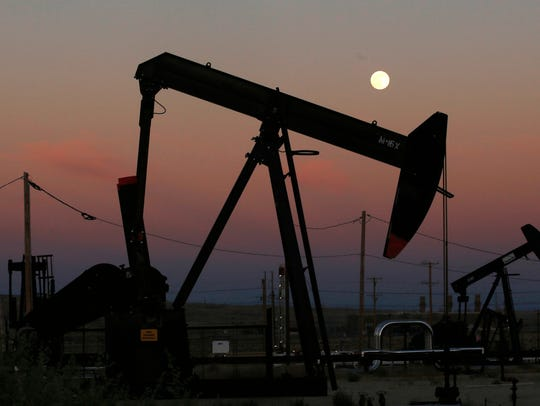 Oil rigs like this one, 103 of them at the end of July,  are busy in New Mexico, just not in the San Juan Basin.