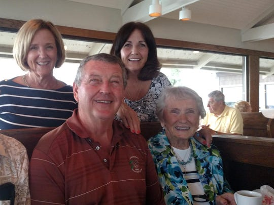 Woodie (bottom left) and Barbara Matthews (bottom right) celebrate their 75th anniversary with their three children, Wayne Matthews (center), Lillian Arlene Stoll (top left) and Beverly McCarthy (top right).