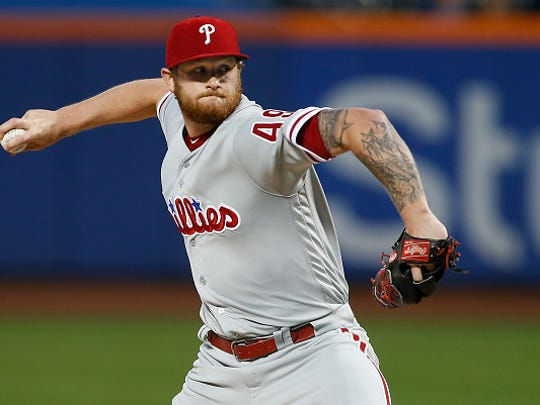 NEW YORK, NY - SEPTEMBER 05: Pitcher Ben Lively #49 of the Philadelphia Phillies in action against the New York Mets during a game at Citi Field on September 5, 2017 in the Flushing neighborhood of the Queens borough of New York City. (Photo by Rich Schultz/Getty Images)