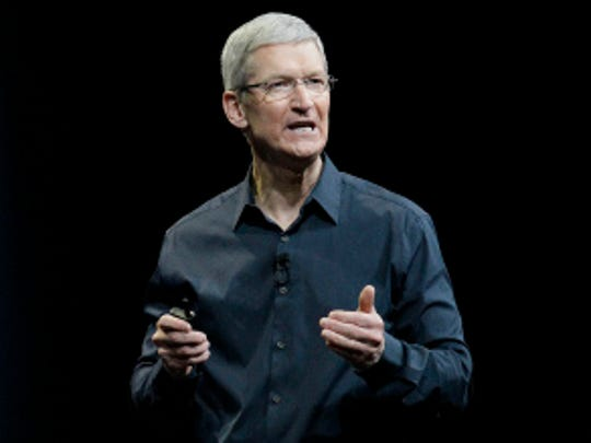 Apple CEO Tim Cook speaks at the Apple Worldwide Developers Conference event in San Francisco.  (AP Photo/Jeff Chiu, File)
