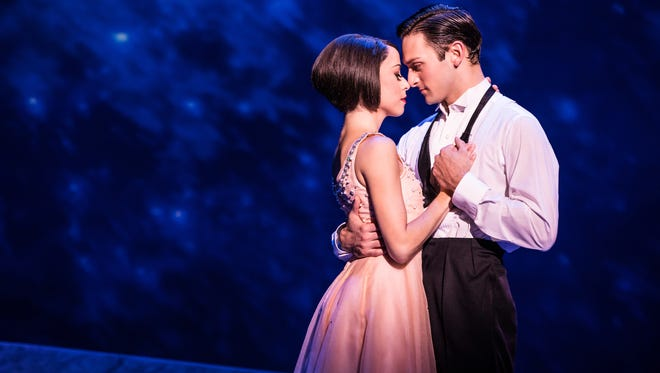 """Sara Esty and Garren Scribner in the national tour of """"An American in Paris."""""""