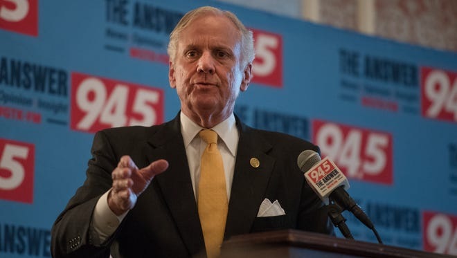 Governor Henry McMaster answers questions at a forum for GOP candidates for governor at the Poinsett Club in Greenville on Tuesday, May 1, 2018.