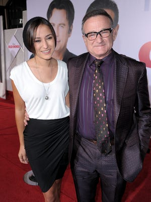 "Actor Robin Williams (R) and daughter Zelda Williams arrive at the premiere of Walt Disney Pictures' ""Old Dogs"" held at the El Capitan Theatre on November 9, 2009 in Hollywood, California."