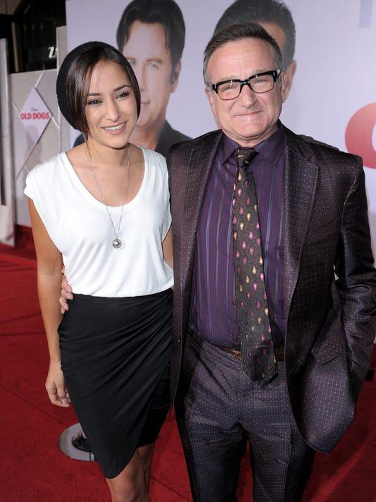 Robin Williams and daughter Zelda Williams